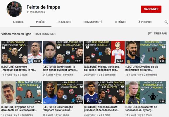 Youtube Football Feinte de frappe Channel
