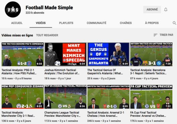 Chaine Youtube de Football Made Simple
