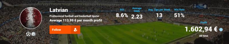 Latvian Football Tipster Tipstrr