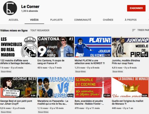 Chaine Youtube Le Corner