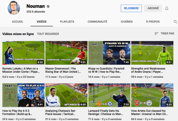 Chaine Youtube de Nouman