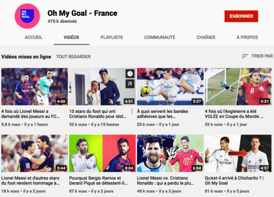 Chaine Youtube Oh My Goal France