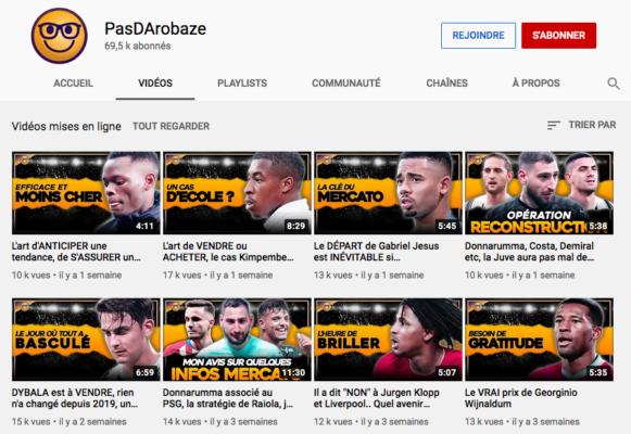 Youtube Football PasDArobaze Channel