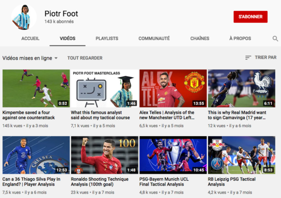 Youtube Football Piotr Foot Channel
