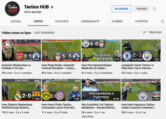 Chaine Youtube de Tactics HUB