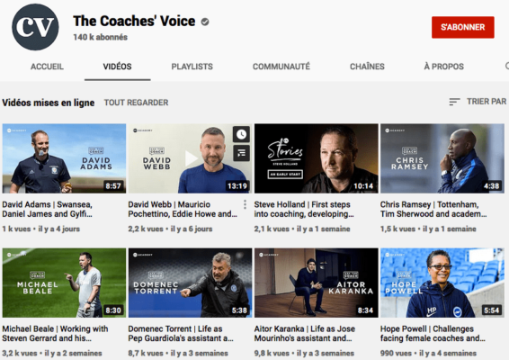 Chaine Youtube The Coaches Voice