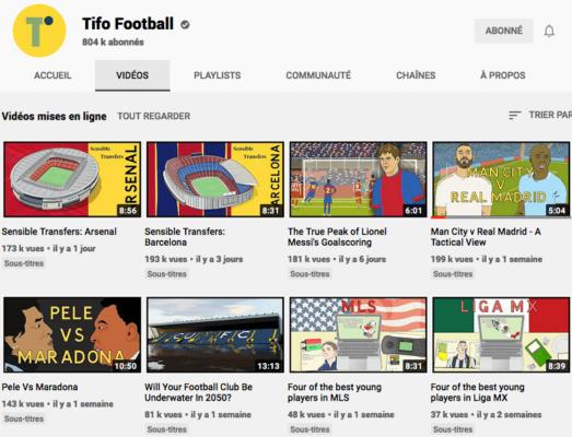 Chaine Youtube de Tito Football