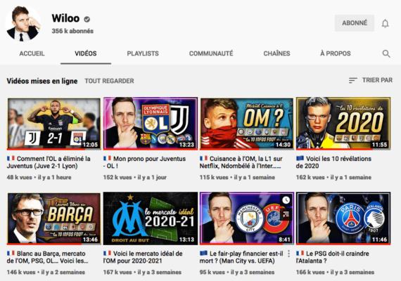 Chaine Youtube de Wiloo